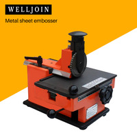 Metal sheet embosser, manual steel embossing machine, aluminum alloy name plate stamping machine, label engrave tool