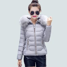 2017 New autumn and winter Jacket Parka Women Winter Coat Women's Warm Outwear Thin Cotton-Padded Long Jackets Coat High Quality