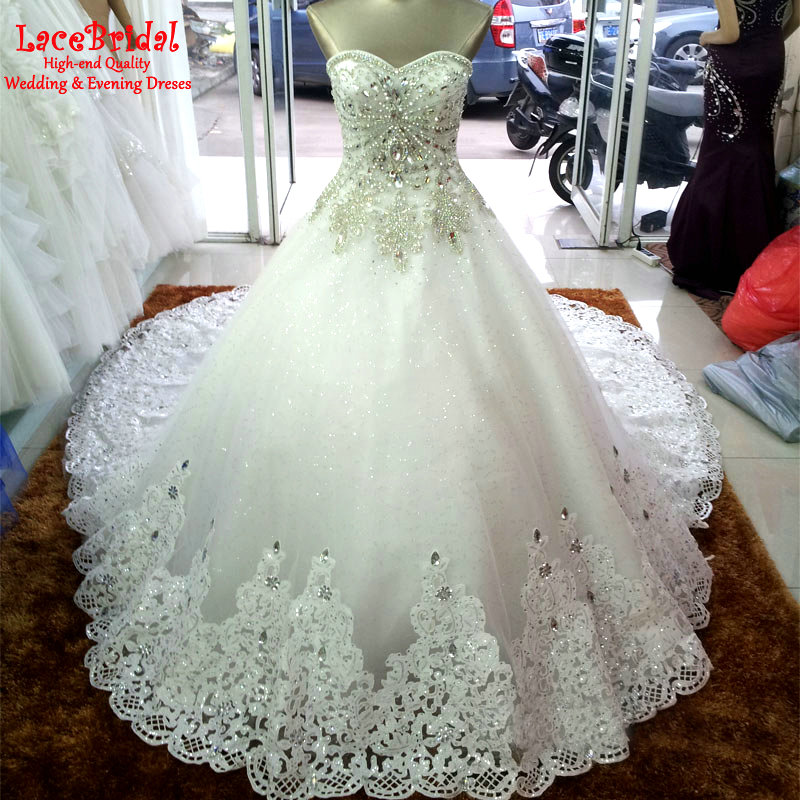 Online Buy Wholesale sparkly princess wedding dress crystal from ...