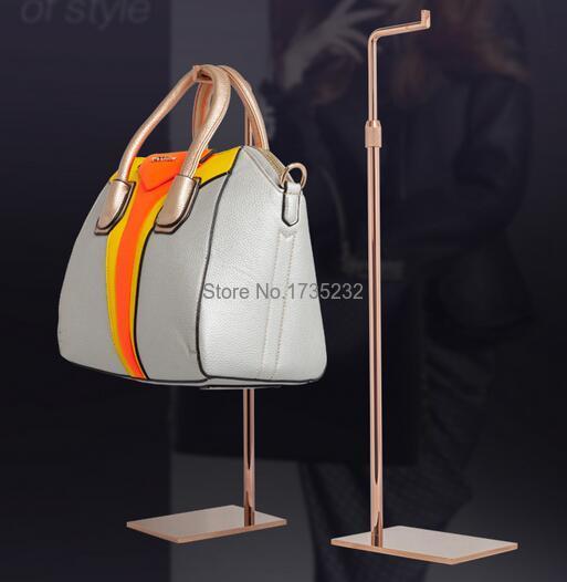 a97b568e77 5pcs Stainless steel Display Rack Women Small Handbag Bag Display Stand Bag  Store Display holder Rack