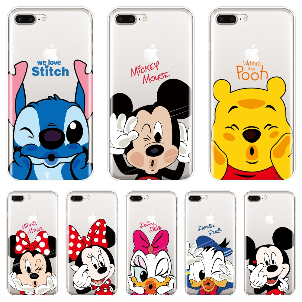 sports shoes 90833 6d375 US $0.63 26% OFF|Cute Mickey Minnie Mouse Phone Case For iPhone X XR XS MAX  8 7 6S 6 S Soft Silicone Back Cover For iPhone 8 7 6S 6 S Plus Case-in ...