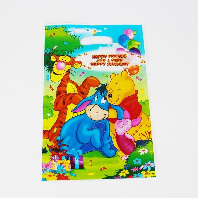 Винни Пух малыш мальчик девочка Happy День рождения украшения Наборы поставки выступает грабить мешок подарков 12 шт./лот