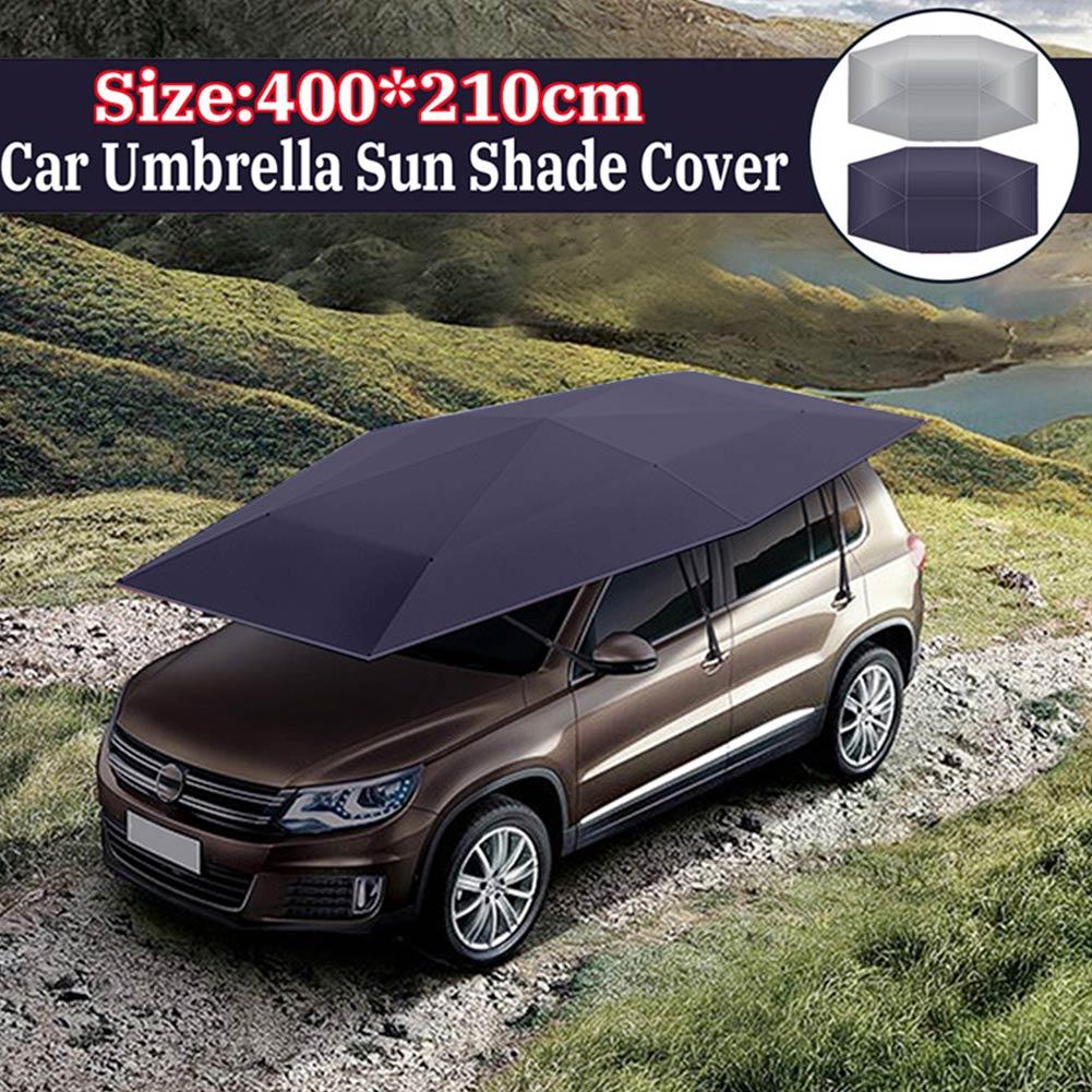Hot voiture parapluie soleil ombre couverture tente tissu auvent Sunproof 400x210 cm pour extérieur BX *