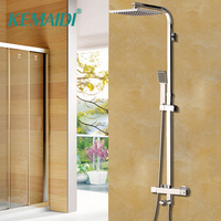 KEMAIDI Shower Set Intelligent Thermostatic Faucet Shower Nozzle Brass Thermostatic Mixing Valve Bathroom Faucet Shower System