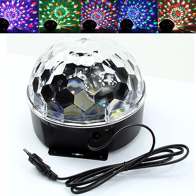 18W LED RGB DJ Club Disco Party Crystal Magic Ball Effect Light Stage Lighting mini rgb led crystal magic ball stage effect lighting lamp bulb party disco club dj light show lumiere