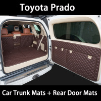 Car trunk mat for toyota Prado 150 toyota land cruiser Prado 120 accessories car cargo liner boot Mat trunk carpet liner