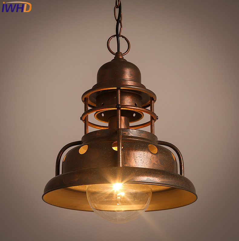 IWHD Style Loft Industrial Pendant Light Fixtures Lamparas de techo colgante moderna Vintage Iron Hanging Lamp Home Lighting iwhd glass hang lights loft style industrial lighting iron vintage lamp led pendant light kitchen hanging lamp bar lamparas