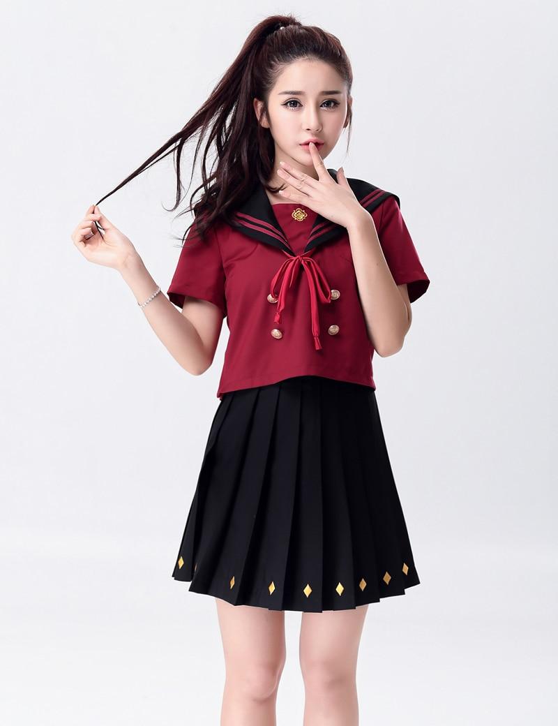 Moonight Women Sexy School Girls Costumes British Style Miniskirt Flirty Women -5578