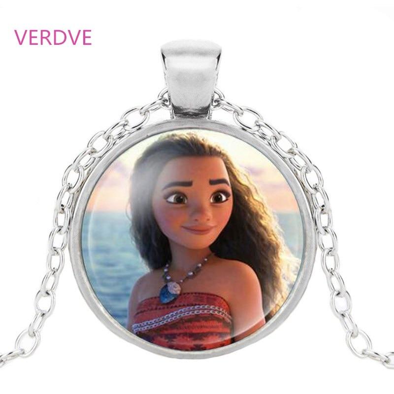 Брендовая женская длинная цепочка, ювелирное ожерелье, кристалл, кабошон, принцесса Эльза, Анна, снежный кулон в виде королевы, ожерелье для девочек - Окраска металла: Silver