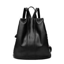 Femme à la mode mini tablet ordinateur paquet Minimaliste intérieure sac vogue tranquillement noble noir étanche école sac à dos femmes