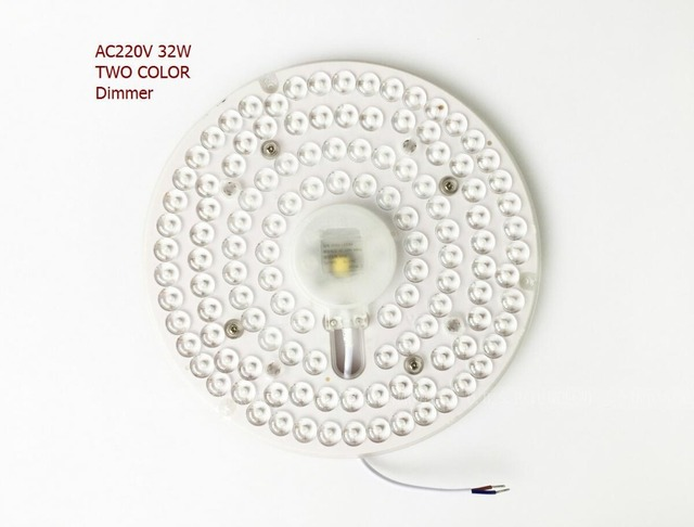 NEW Factory directly AC220v 32w double color segmented dimming led celling light module panel light with lens Big degree 2835smd