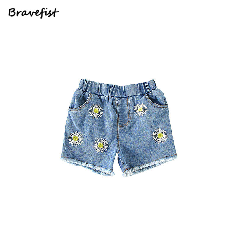 Summer Floral Jeans Shorts For Baby Girls 0 24 Months