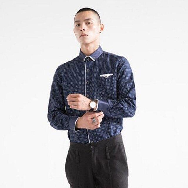 2018 Hot Sale Business Men Long Sleeve Formal Dressprinted Pure