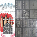 2015    50sheet/lot Fashion 3D golden and silver lace Nails Stickers for nail art 3d design nail stickers Fashion design