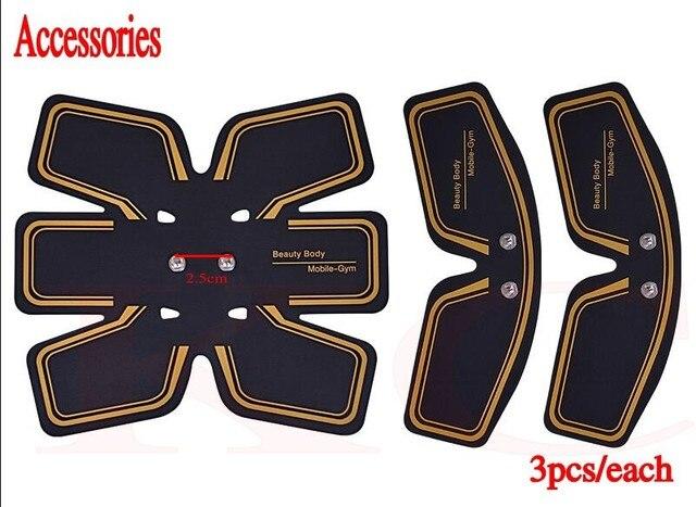 6 piezas (2 lotes) pegatinas de Gel de replecamento almohadillas de parche de silicona estera de hidrogel para Abs ajuste inalámbrico inteligente EMS masajeador de entrenamiento Abdominal