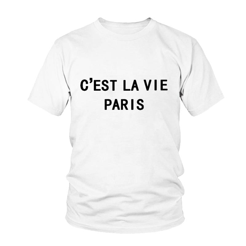 C/'EST LA VIE French Cute Printed T Shirt Women/'s Fashion Gift Funny Fun