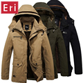 2017 Wintet Jacket Men Thick Coats Casual Army Green Outwear Military Man Cotton Jackets Wool Overcoat Mens Parka Thermal X431
