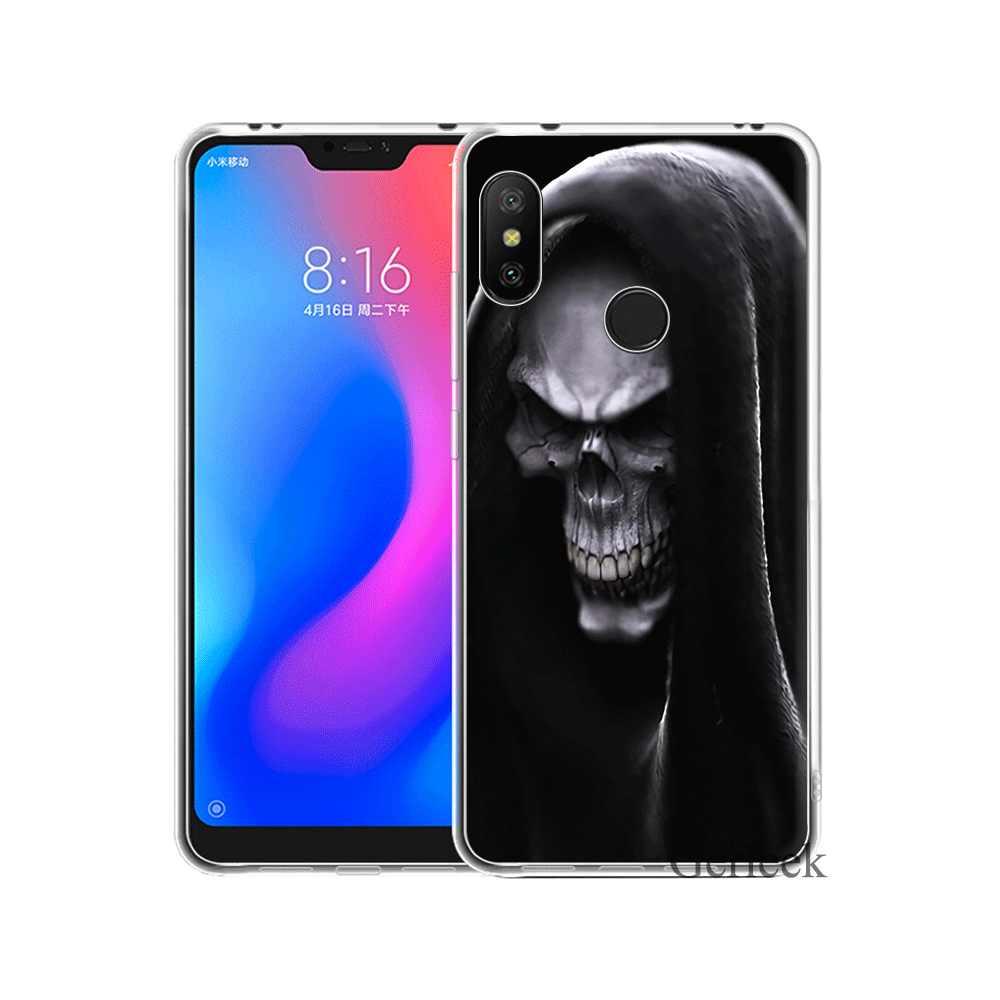 Étui de téléphone pour xiaomi Redmi 4A 4X5 5A 6 6A 7 7A 8A S2 ALLER K20 Pro Housse Mort Crâne Coque