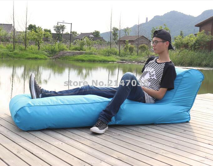 aqua azul bean bag silla plegable barato puf haba al aire libre sof colchn plegado