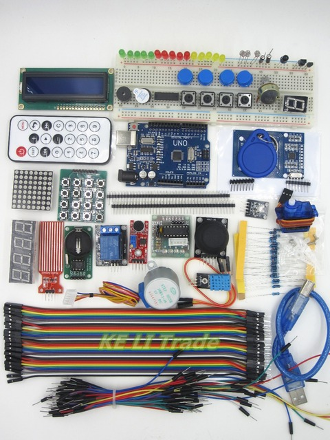2set/sets UNO R3 KIT Upgraded version of the For- Starter Kit the RFID learn Suite Stepper Motor + ULN2003 Best prices