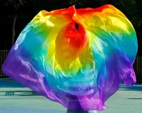 2015 Design 100 Real Silk Belly Dance Veil Cheap Dance Veils Tari Perut Kostum Veil Wholesale