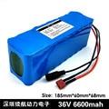 36V 6.6Ah (10S3P) аккумуляторные батареи  велосипеды  электрические автомобильные батареи  42V литиевая батарея