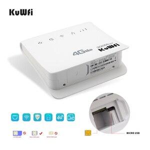 Image 3 - KuWFi 300Mbps yönlendirici 4G LTE CPE yönlendirici mobil WiFi kablosuz kapalı yönlendirici 2.4GHz WiFi Hotspot ile Lan portu SIM kart yuvası