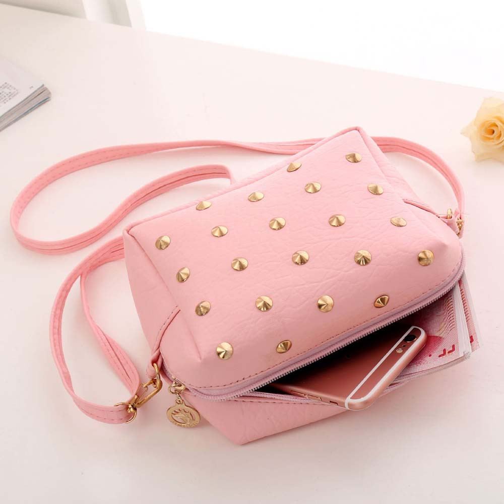 Xiniu Women Handbag Cute Pink Messenger Bags PUNK Rivet PU Leather Crossbody Shoulder Bag bolsa feminina #0 h1 h3 h7 h11 hb3 9005 hb4 9006 h4 hi lo beam led car headlight bulb 80w 6500k 8000lm fog light auto headlamp car led headlights