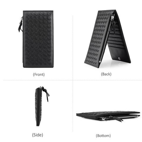 LOVEVOOK brand women wallet with zipper pocket artificial leather female bifold multi card case purse organizer thin zipper long Multan