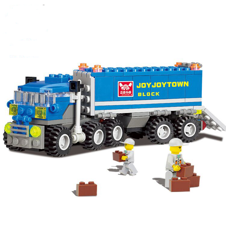 New 6409 Transformation Transport Truck Building Blocks Toy Set City Crane Technic Education Bricks Toys Compatible with Kazie new original kazi 6409 city truck model building blocks sets 163pcs lot deformation car bricks toys christmas gift toy sa614