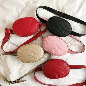 New Fashion Waist Bag PU Leather Women's Fanny Pack 2019 Portable Leisure Travel Purse Chest Bag