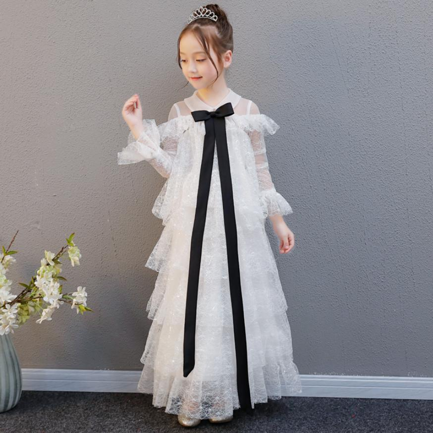 Luxury Princess Lace Dress Ball Gown First Communion Dress Ankle-Length Kids Pageant For Birthday Dress Modis Vestidos Y1356Luxury Princess Lace Dress Ball Gown First Communion Dress Ankle-Length Kids Pageant For Birthday Dress Modis Vestidos Y1356