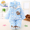S72 Cartoon Newborn Baby Clothes Animal Overall Menina Baby Costume Warm Long Sleeve Baby Rompers Retail Baby Boys Girls Rompers