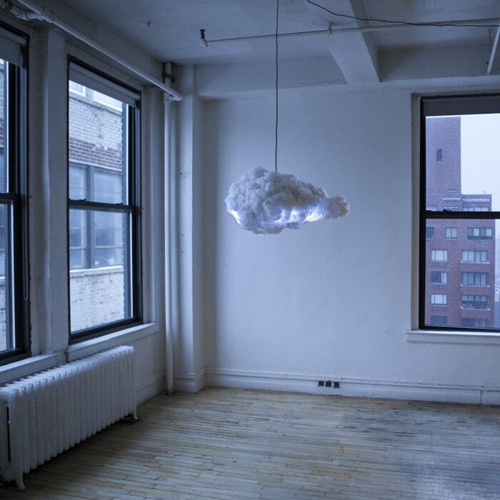 Éclairage Intelligent foudre nuages nuages flottants art déco lampe éclairage lustre personnalité créative nuage lumière