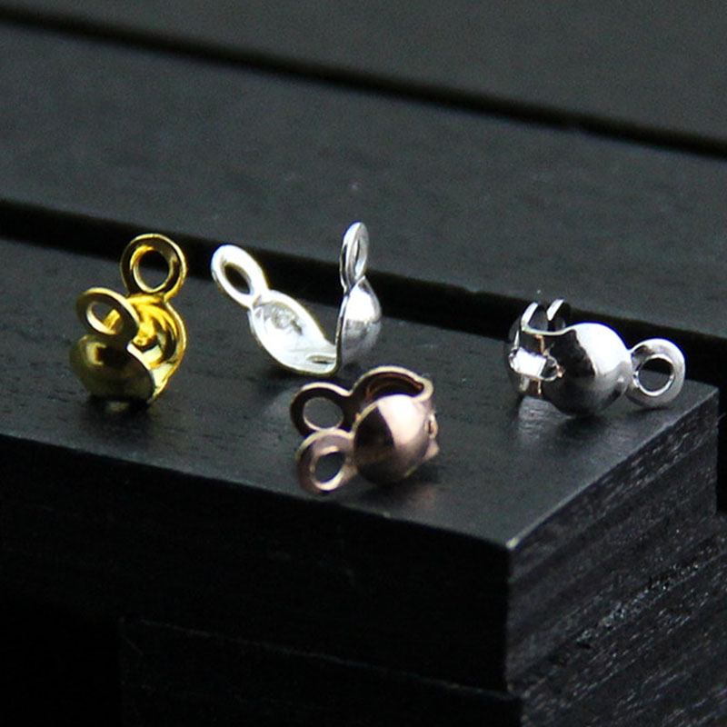 2PCS Vintage Silver Alloy Gem Beads DIY Jewelry Findings Hole Size 3mm 39176