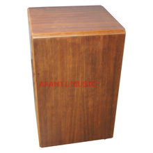 Afanti Music Acacia Wood / Natural Cajon Drum (KHG-161)