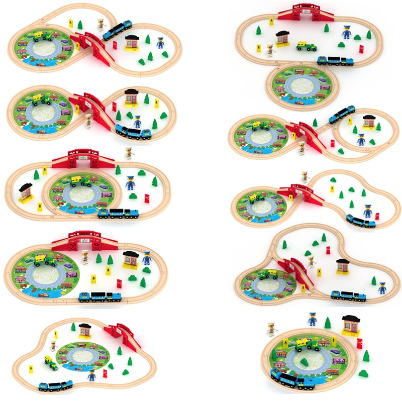 Best Bady educational wooden toys Lovely Tomas and Friends Wooden Railway Train Track slot set toy