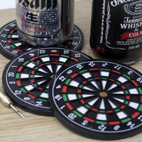 4pcs Coasters Creative Dart Board Coasters Plastic Household Products Dartboards Mat