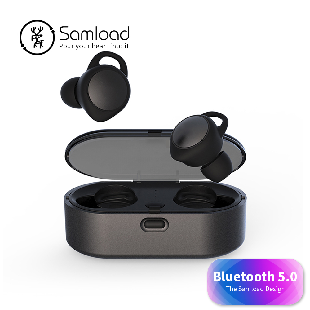 Samload Bluetooth 5 0 Wireless Headset Outdoor Sport Earbuds in ear Earphones Deep bass headphone For