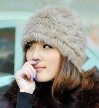 Новое поступление мода меховая шапка женская зима теплая шапка кролика зимняя шапка