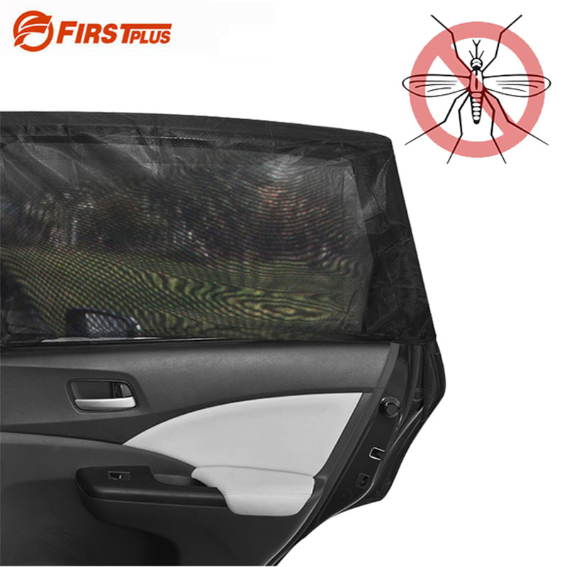 2x Car Side Window Sock Sunshade Visor Mosquito Net For Baby Kid Pet Breathable Sun Shade Mesh Backseat Block Curtains Black black anti mosquito pest window net mesh screen curtain protector
