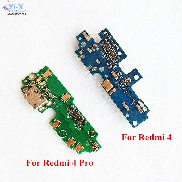 1 шт. USB зарядное устройство ленты шлейф Разъем Micro USB для подключения зарядного устройства запасных Запчасти для Xiaomi Redmi 4/Redmi 4 Pro