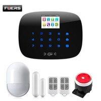 Fuers 433 мГц Беспроводной WI FI 3g GSM Сигнализация PSTN Главная охранной сигнализации системы комплект инфракрасный движения Сенсор приложение Упр
