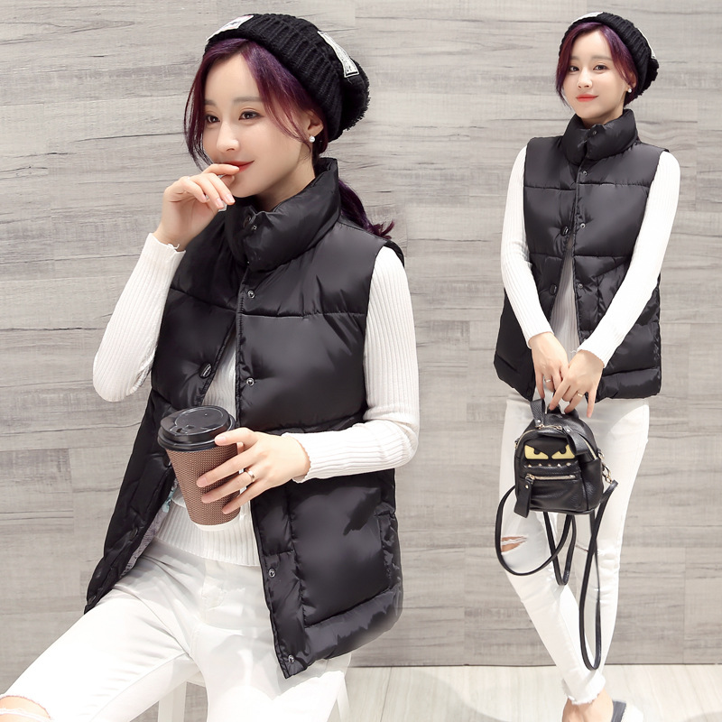 Gilet Short Solid Polyester Women Vest Chalecos Mujer 2017 Korean Fashion Leisure Ladies Slim Female Factory Direct Supply