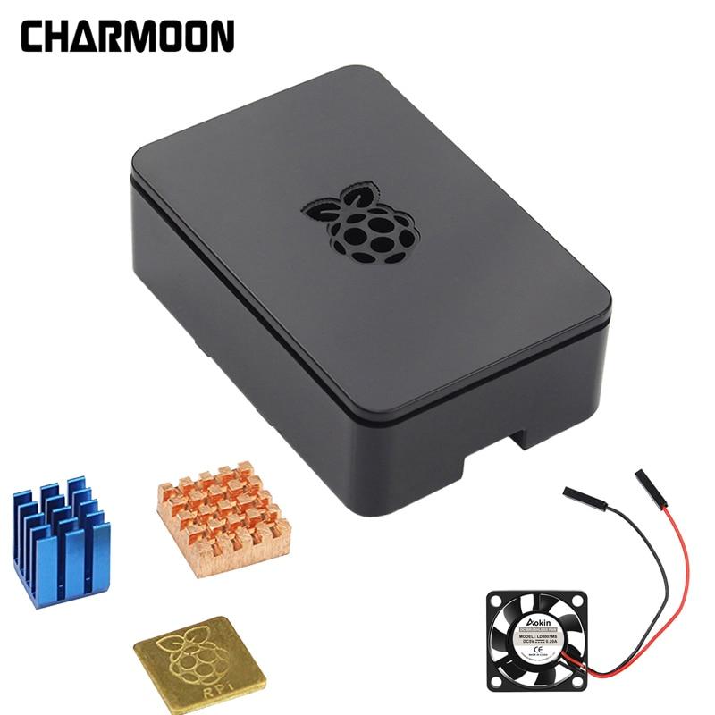 For Raspberry Pi Enclosure Cover With Aluminum Heatsink Cooling Fan For Raspberry Pi 3 Model B + Plus,PI 3 / 2
