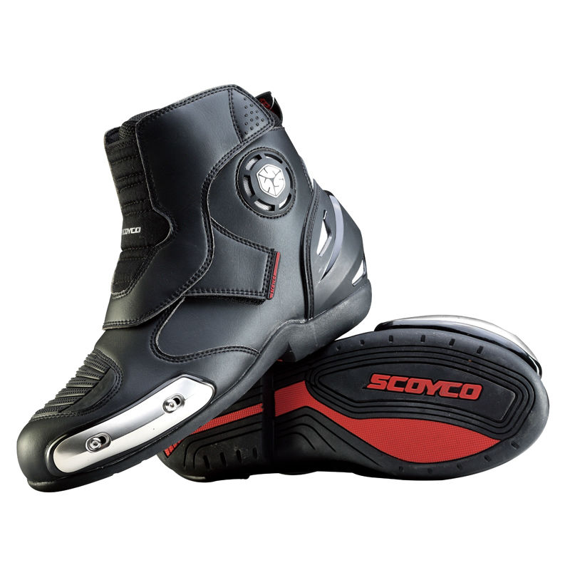 MOTORCYCLE REAL LEATHER  MENS  MOTORBIKE RACING SHORT SPORTS BOOTS SHOES DEALS