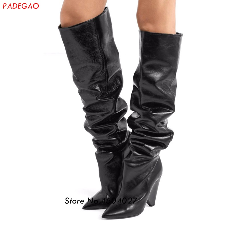 Autumn Spike Heel Women Boots Pointed Toe Thigh High Boots Fashion Sexy Over the Knee Boots High Heels Shoes Woman mens watches top brand luxury pagani design genuine leather quartz watch men outdoor sport chronograph reloj hombre wrist watch