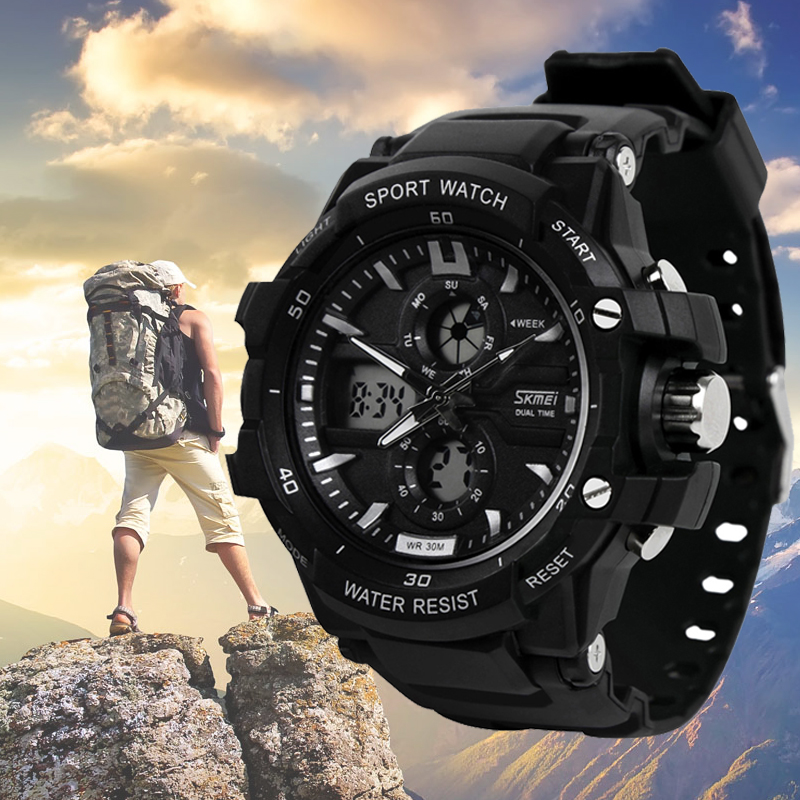 Sports electronic watch male multifunctional waterproof watch skmei dual display outdoor child men's watch puma watch sports wind series multifunctional personality electronic male watch pu910942008 pu910901006
