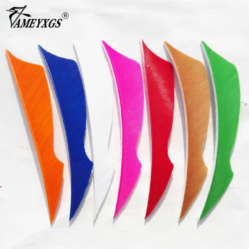 50pcs Archery Arrow Feather Right Wing 4 quot Shield Cut Natural Turkey Vanes Fletching Fit for Hunting Shooting Arrows Accessories in Bow amp Arrow from Sports amp Entertainment