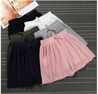 2017 Spring Summer Women S Shorts Casual Elastic Waist Short Femme Candy Colors Solid White Black